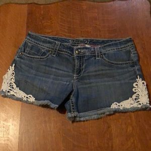 Adorable lace trimmed shorts